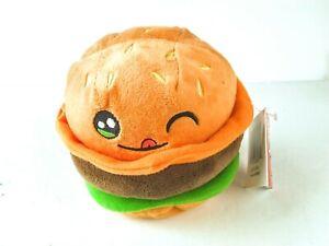 "Russ Bradley Cute Cheese Hamburger Plush Snackeez 4"" Toy"