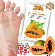 ALIVER Papaya Exfoliating Peel Foot Sock Mask Baby Soft Feet Removes Dead Skin