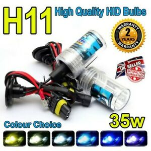 H11 6000k HID 35w Replacment Bulbs AC Xenon Metal Base Headlight Uk Seller 6k