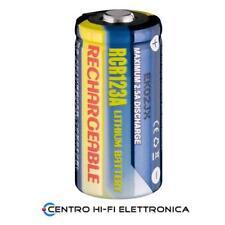 Batteria CR123A Litio Ricaricabile 3,0V 0,50Ah  123/123A/CR17335/CR17345/DL123A