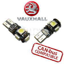 VAUXHALL VXR Bright Canbus LED Side Light 501 W5W T10 5 SMD White Bulbs - WHITE