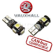 Vauxhall Vxr Brillante Luz Lateral Canbus LED 501 W5W T10 5 SMD Bombillas Blanco-Blanco