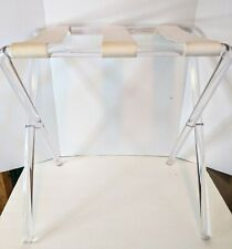 Vtg MCM Hollywood Regency Lucite Acrylic Luggage Rack Stand Table
