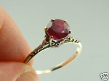 Estate 1.50ct Natural RUBY 14k White Gold Wedding Ring