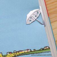 mini metal UMBRELLA girl's summer Bookmark silver color for gift korean fashion