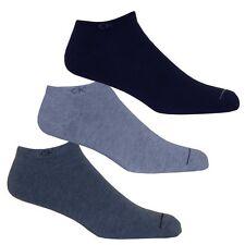 Calvin Klein 3-Pack Men's Casual Trainer Socks, Blue