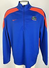 Nike Florida Gators Blue Polyester Windbreaker Pullover XL 1/3 zipper