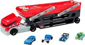 Hot Wheels MEGA Hauler + 4 Cars Vehicles FPM81  NEW FREE SHIPPIG GIFT TOY KIDS