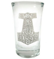Thor's Hammer Shot Glass - Free Personalized Engraving, 1.5 oz Shot Glass