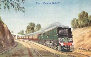 UK Railway 1930s Postcard Devon Belle artist impression Graphic Studios 21-4813