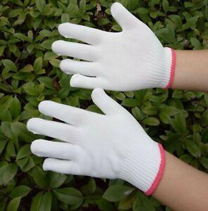 Children Kids Craft Work Protective Knitting White SHORT Gloves Mittens 5-12YR