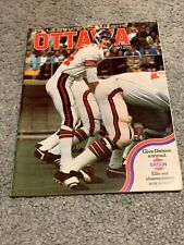 1974 Montreal Alouettes v Ottawa Roughriders CFL Football Program Jerry Keeling