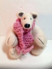 "Handmade Teddy Bear 7"" Jointed Polar Bear Artist Art Doll Artisan"