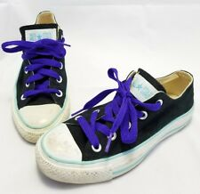 Womens Converse All Star Black/Teal Sneakers Shoes Size 5 EUR 35 EUC