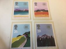 ROYAL MAIL 1ST DAY COVERS / 1983 COMMONWEALTH DAY  SET OF 4 POSTCARDS OF STAMPS