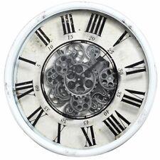 """Benzara 19.7"""" x 19.7"""" Vintage Vibe White Round Wall Clock BM145664"""