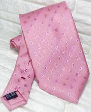 Cravatta rosa fiori floreali TOP Quality NOVITÀ Made in Italy marchio 100% seta