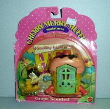 Mattel 1989 Cherry Merry Muffin Miniatures GRETA GRAPE & ICE CREAM CONE HOME MOC