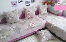 Shabby Cotton Door Floor Mat Rug Runner Sofa Couch Throw Carpet Patchwork Chic
