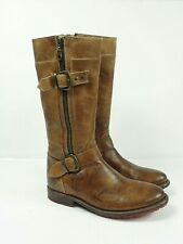 Bed Stu Women's Gogo Tan Rustic Leather Boots Size 7