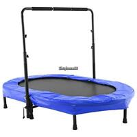 Adjustable 2 kids Parent-Child Trampoline Twin Trampoline with Safety Pad USA