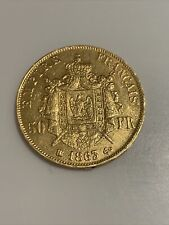 piece or 50 francs napoleon