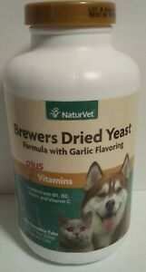 Natur Vet Brewers Dried Yeast Formula With Garlic Flavor Plus Vitamins 1,000 Tab