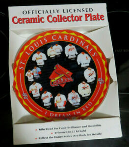 "St. Louis Cardinals ""I Dream in Red"" 2001 Plate by Hunter Jerseys 1903-1998 BOX"