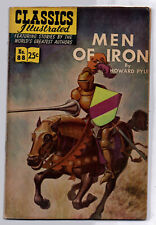 Classics Illustrated #88--Men of Iron, 1968, VG+ condition, supple covers