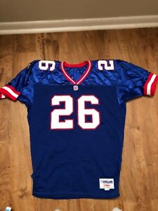 New York Giants Sequon Barkley Football Jersey size 48 Blue Red White