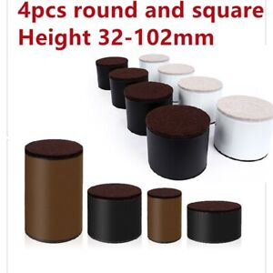 4X Carbon Steel Furniture Risers Bed Lifts Height Heavy Duty 52MM or 102MM