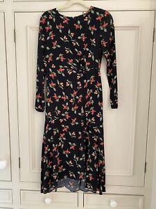 H&M Cherry Print Midi Dress Size 10