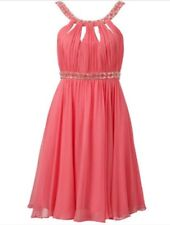 Forever New coral silk dress - as new - 10