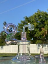 Hookah Glass Water Pipe Bong 7' Waterpipe Bubbler W Two Bowls Assorted Colors