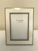 NEW Natalini Hand Italy Marquetry Lacquer Photo Picture Frame 4x6 Ivory Modern