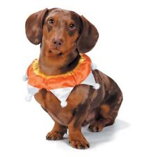 """Aria Candy Corn Dog Scrunchy Halloween Party Collar Pet Accessory S M L 13-16"""""""