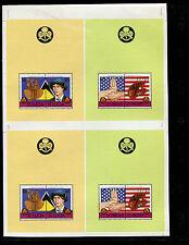 St Vincent/St Lucia Combination 1986 Scouts Setenant Souvenir Sheets Proofs