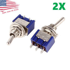 2pcs Mini 3-Pin SPDT ON-ON Toggle Switches 6A 125VAC / 3A 250VAC MTS-102 US