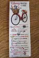 Mary Lake Thompson Flour Sack Towel -  CHERRY POUND CAKE Recipe, Red Bike