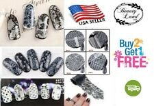 1-32 pcs: Set D- DIY Lace Nail Foil Transfer Foil Nail Art Decoration Tips Wrap