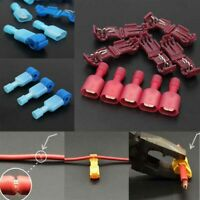 80pcs Quick Splice Lock Wire Terminals Connectors Electrical Crimp Cable Snap