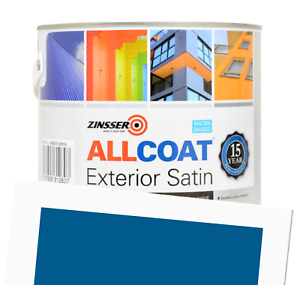 Zinsser Allcoat Exterior 15 Year Protection WB Tintable Blue RAL 5017 Satin 1L