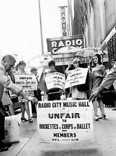 Photo. 1960s. NYC. Rockettes Picketing Radio City Music Hall