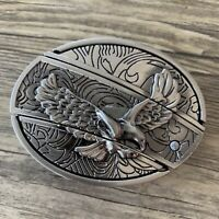 New HIGH QUALITY Eagle Belt Buckle Western Cowboy SILVER 3D MEN WOMEN