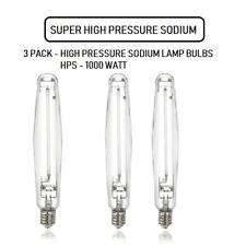 3 Pack 1000 Watt Super Hps Horticultural Grow Light Bulb