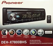 NEW Pioneer DEH-X7800BHS Single DIN In-Dash CD/AM/FM w/ Bluetooth & HD Radio