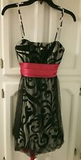 Glittery Party Holiday Dress Black/Silver/Pink Sparkle NWT Josh & Jazz sz 5/6