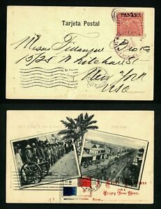 CANAL ZONE 1903 Panama    VF used postcard (668)  see 4 scan