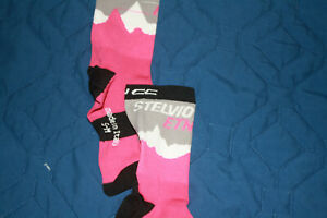 GCN bicycle socks/Made in Italy/Multicolored gray,pink and white/s-m size
