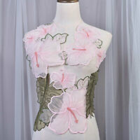 Exquisite Flower Leaves Appliques Embroidery Patch Embellished for Costumes